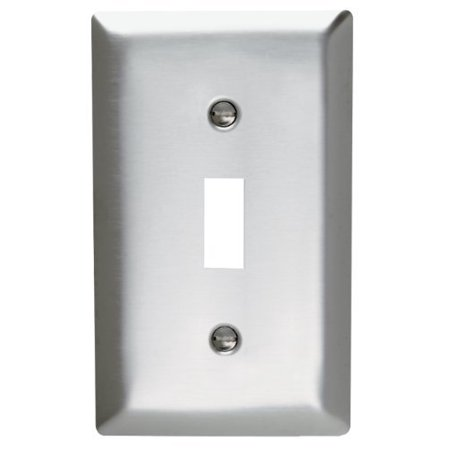 Pass and Seymour SS1-D Non-Magnetic Stainless Steel Single Gang Toggle Light Switch Wall Plate