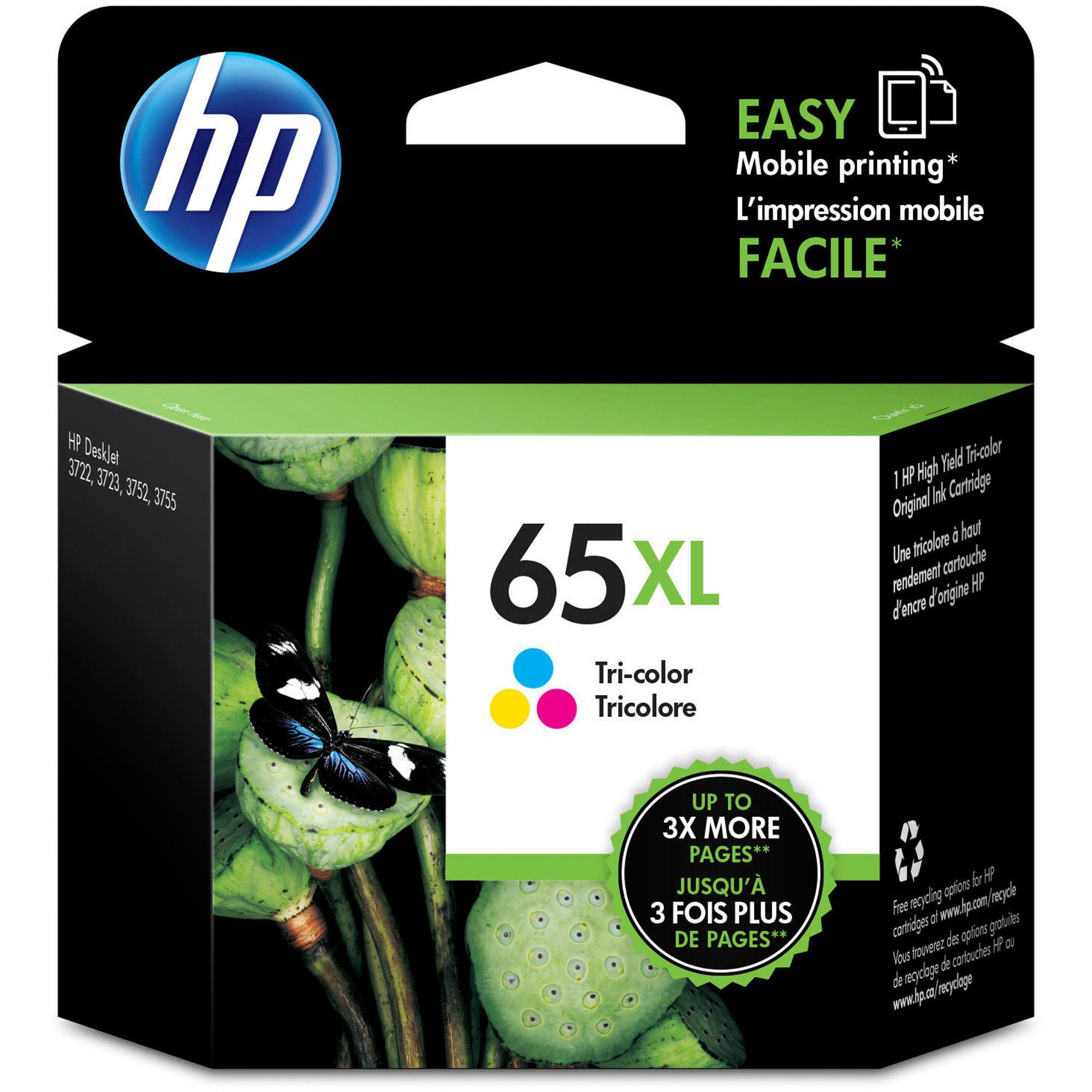 HP 65XL Tri-color High-Yield ink cartridge (N9K03AN) - Walmart.com 5356bb2be9e8