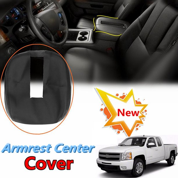 Grtsunsea Car Auto Vehicle Soft PU Leather Black Armrest ...