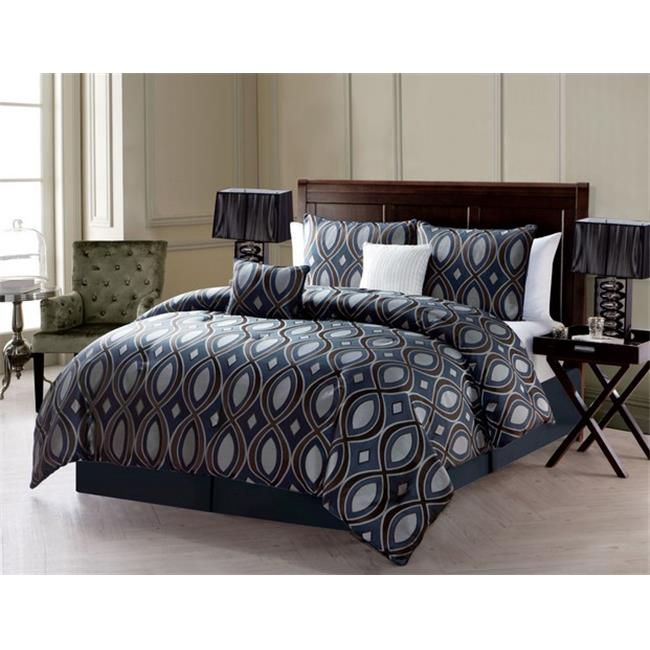 Luxury Home Luna Comforter Set, Black - Queen