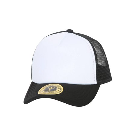 TopHeadwear Low Profile Trucker Foam Mesh Hat - Blank Trucker Hats