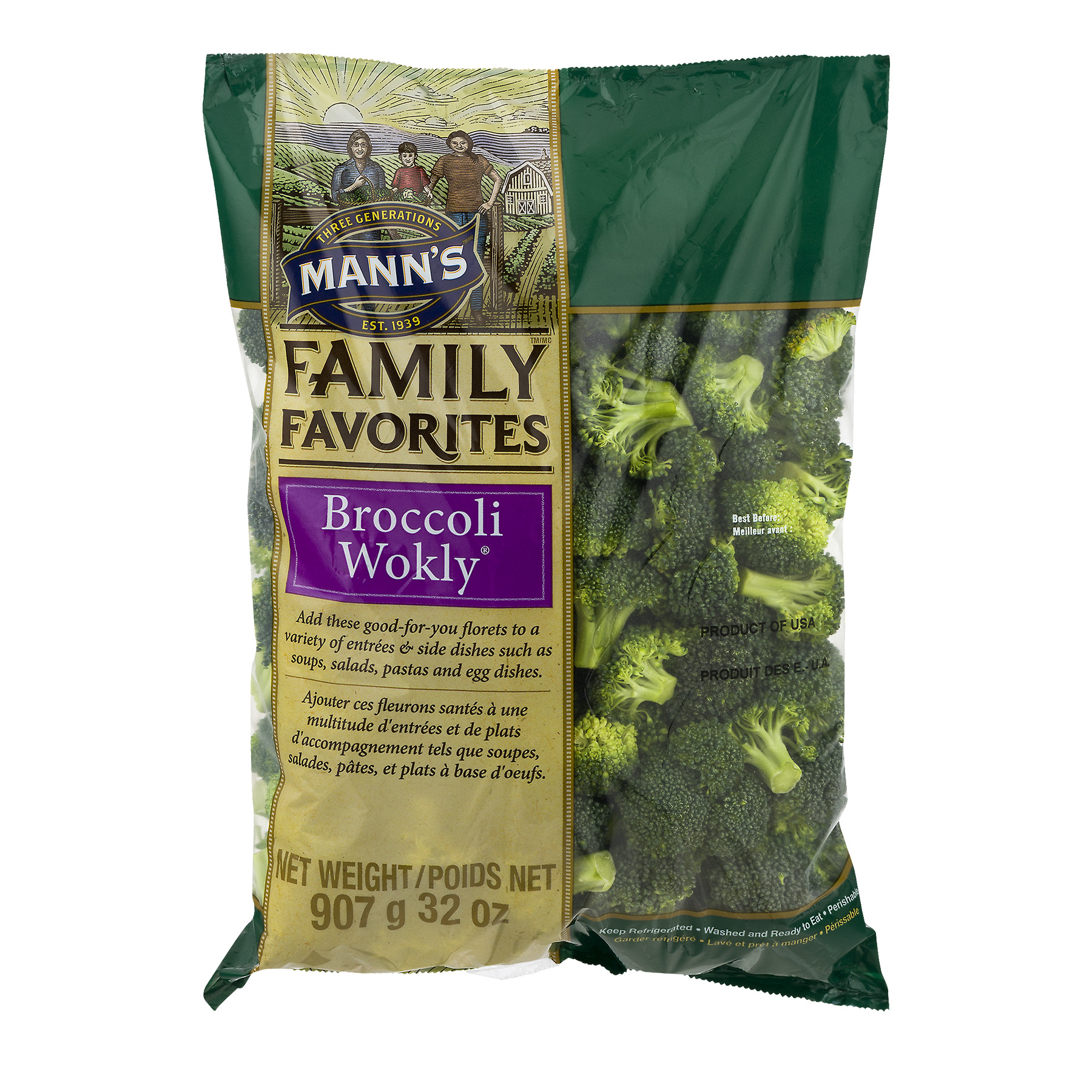 Manns Packing Manns  Broccoli Wokly, 32 oz