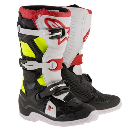 Alpinestars Tech 7S Youth Boots Black/Red/Yellow Alpinestars Tech 6s Youth Boots