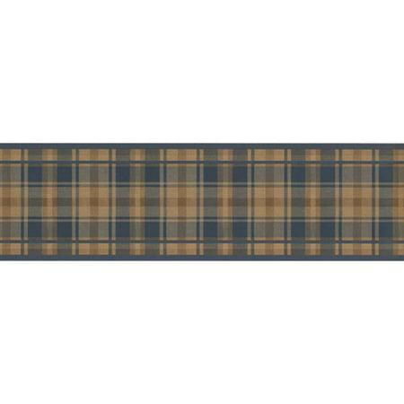 Plaid Wallpaper Border - Chesapeake Wallcoverings Stripe Design 15' L x 7'' W Plaid Wallpaper Border