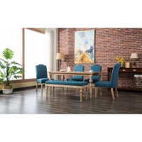 Roundhill Furniture Mod Urban Style 6 Piece Dining Table Set