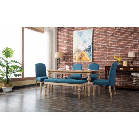 Roundhill Furniture Mod Urban Style 6 Piece Dining Table Set ()