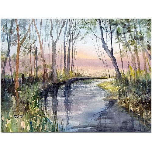 "Trademark Art ""River Reflections"" Canvas Art by Ryan Radke"