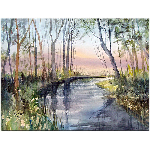 "Trademark Art ""River Reflections"" Canvas Art by Ryan Radke"