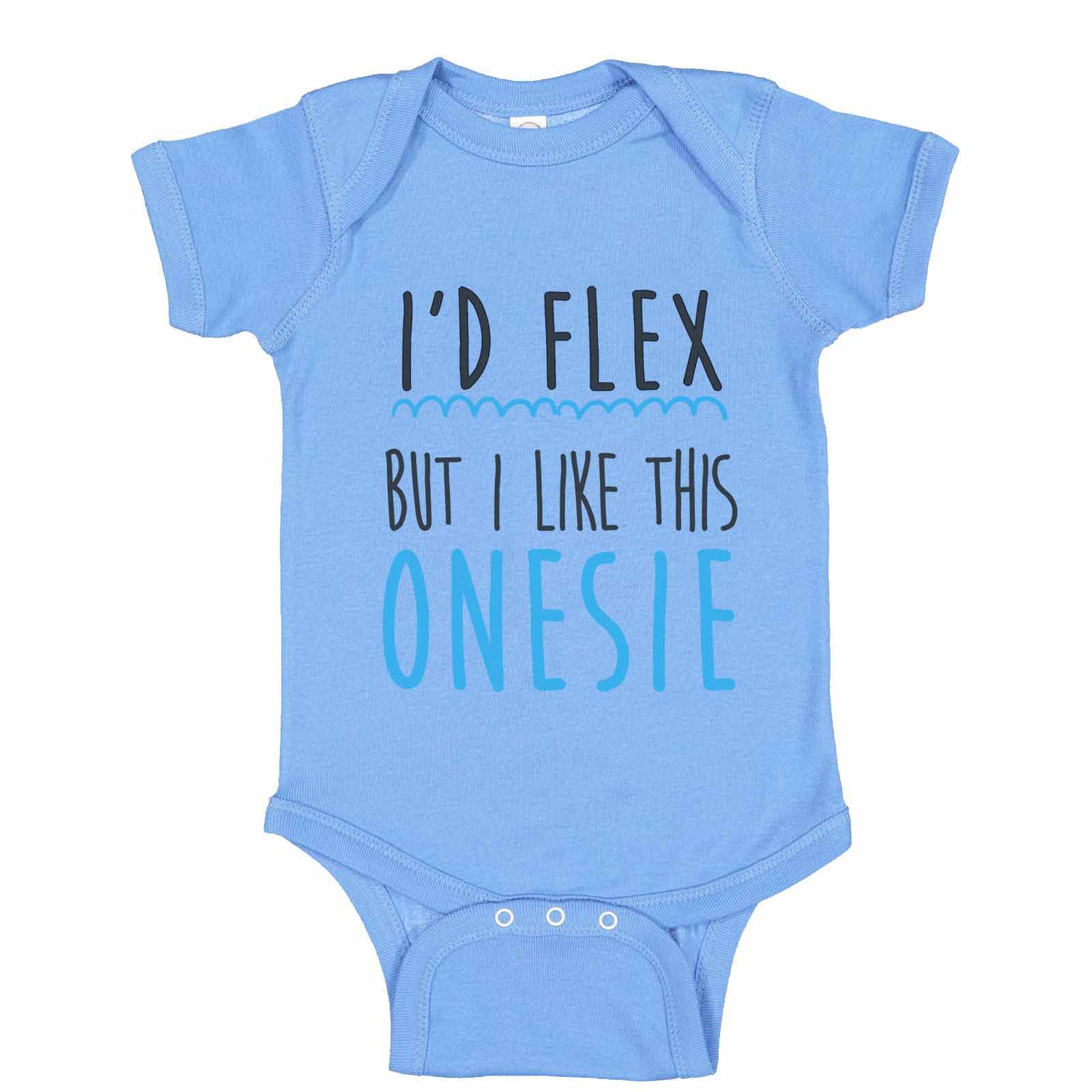 I/'d Flex But I Like This Shirt Baby Bodysuit Boys Girls Baby Shower Gift Bodysuit or Toddler Shirt