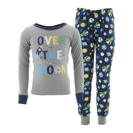 Dead Tire Boys Over The Moon Gray Cotton Pajamas - Pj For Boys