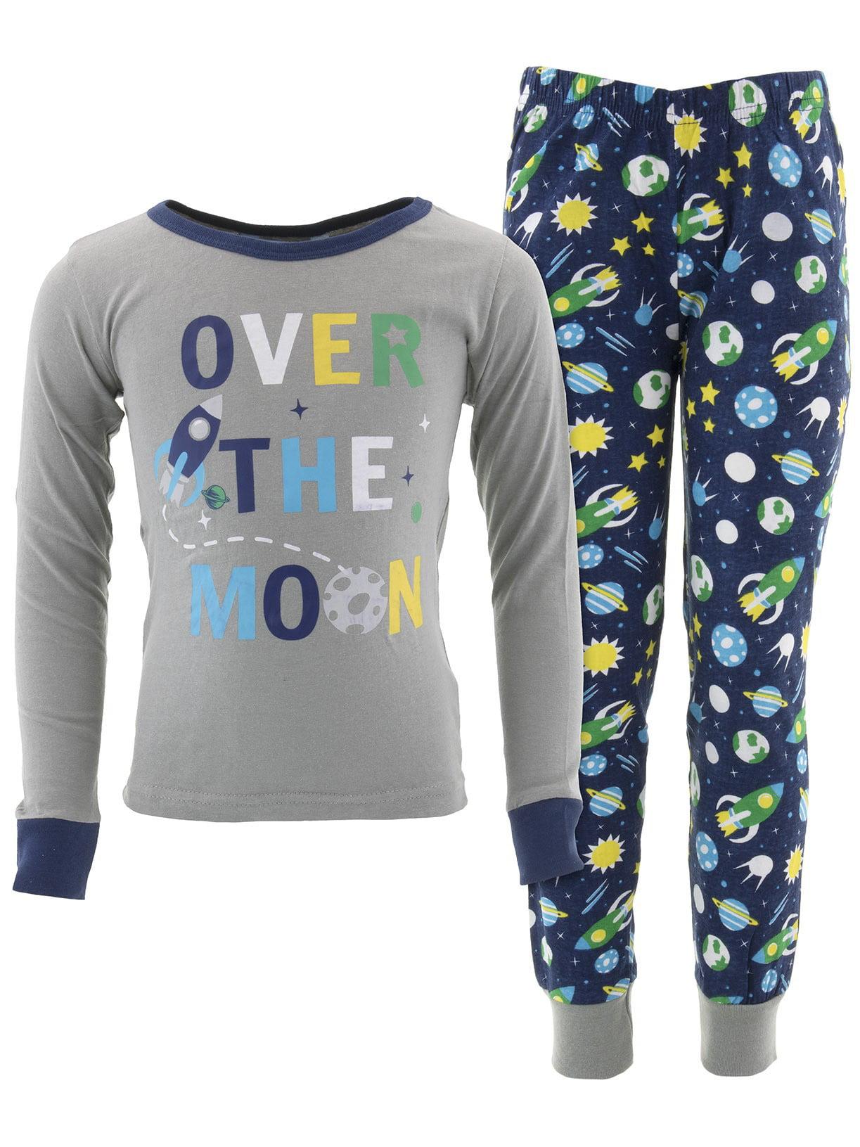 Dead Tire Boys Over The Moon Gray Cotton Pajamas