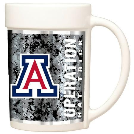 Arizona Wildcats Operation Hat Trick 15oz. Ceramic Mug - White - No Size (Wildcats Ceramic)