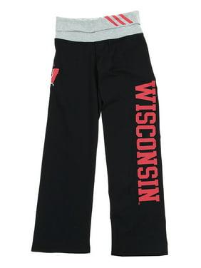 NCAA Youth Girls Wisconsin Badgers Yoga Roll Pants