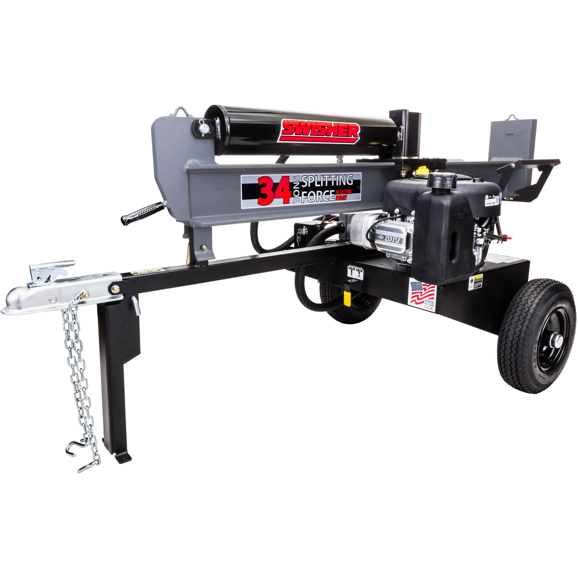 Swisher 11.5 HP 34-Ton 12V Recoil Cold-Weather Clutch Log Splitter by Swisher Acquisition, Inc