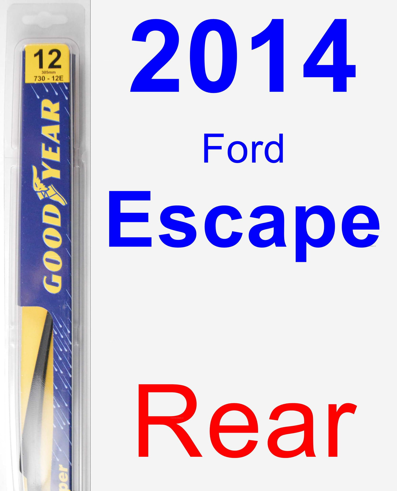 2014 Ford Escape Rear Wiper Blade Paint Color Chart