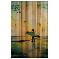 Parvez Taj RX Surf Art Print on Natural Pine Wood