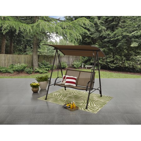 Mainstays Two Person Canopy Porch Swing Walmart