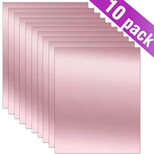 ARHIKY HTV Heat Transfer Vinyl Bundle 1Teflon Sheet,25 Assorted Colors Vinyl 27 Sheets 12 x 10 Iron on Vinyl for T-Shirt