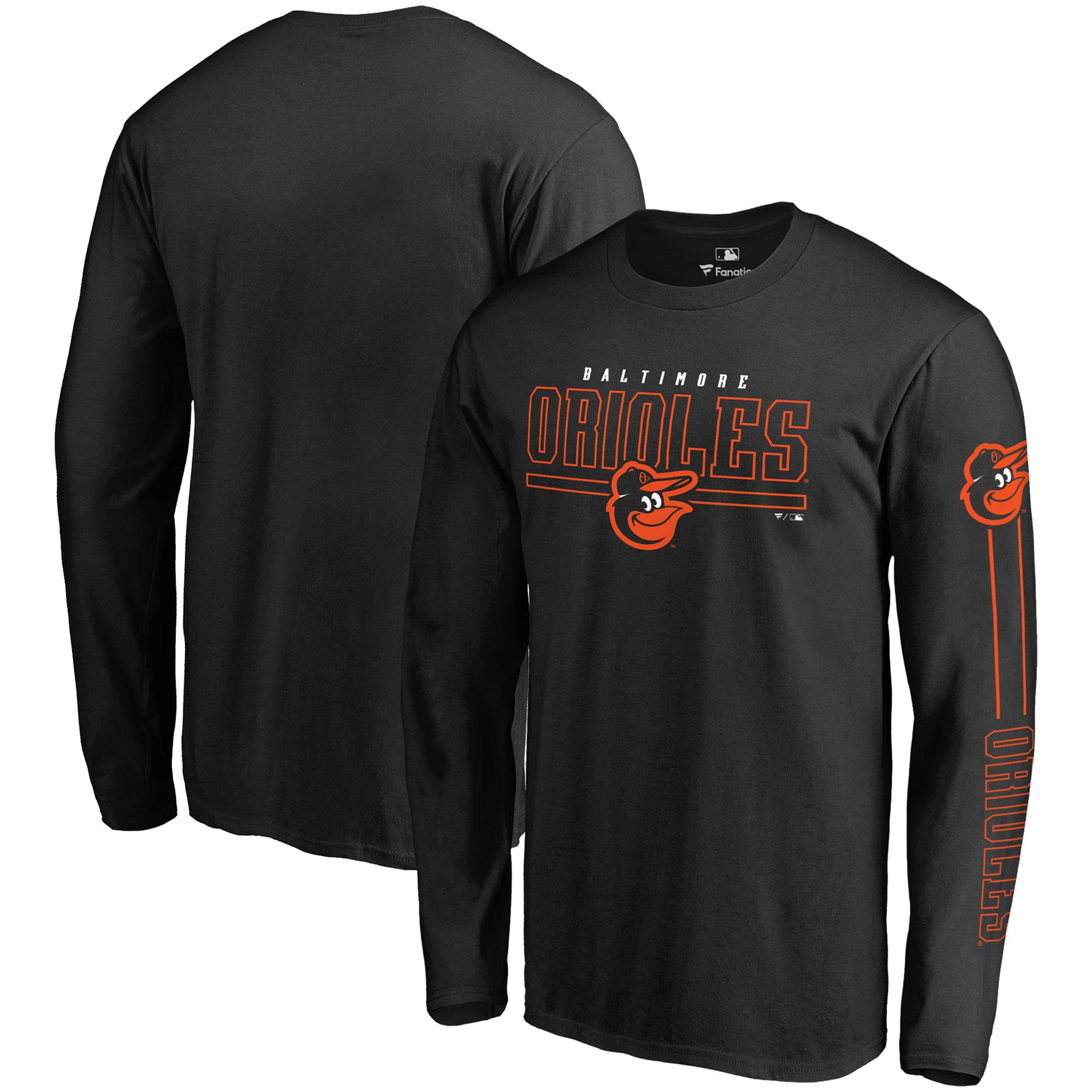 Baltimore Orioles Fanatics Branded Big & Tall Front Line Long Sleeve T-Shirt - Black