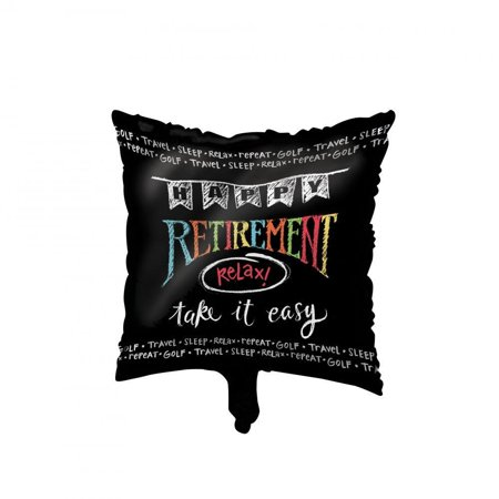 Creative Converting Retirement Chalk Metallic Balloon 18