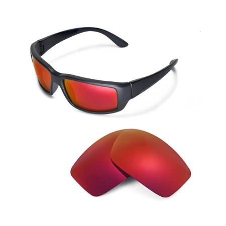 Walleva Fire Red Polarized Replacement Lenses for Costa Del Mar Fantail (Costa Del Mar Fantail Sunglasses)