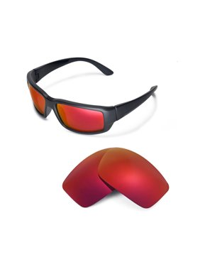 1203a2226f91a Product Image Walleva Fire Red Polarized Replacement Lenses for Costa Del  Mar Fantail Sunglasses