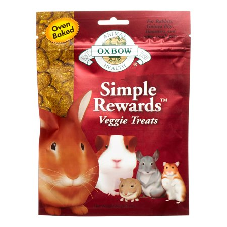 Oxbow Simple Rewards Small Animal Treats, Veggie, 2 oz.