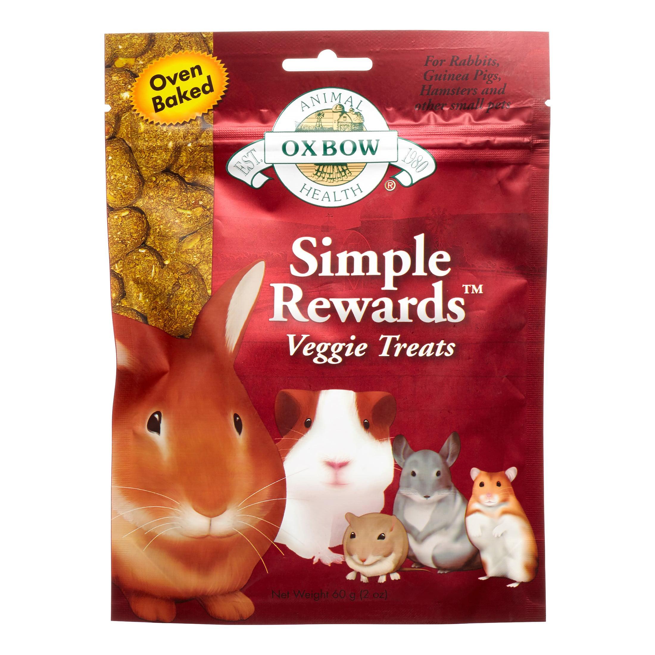 Oxbow Simple Rewards Small Animal Treats, Veggie, 2 oz.