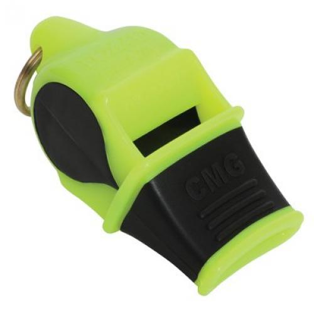 FOX 40 Sonik Blast CMG Whistle Multicoloured Neon-Yellow / Black with Breakaway