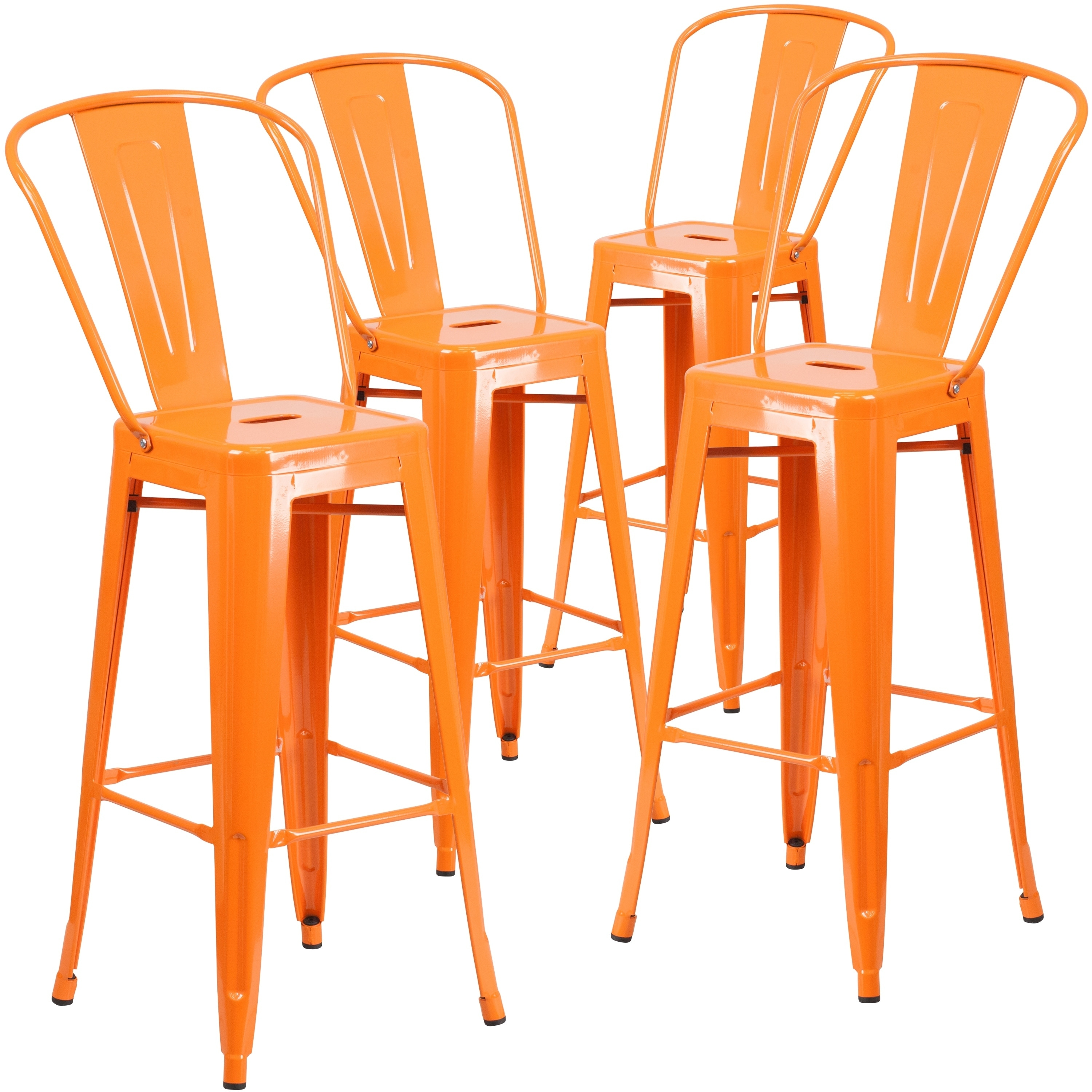 Lancaster Home  Outdoor Metal Barstool