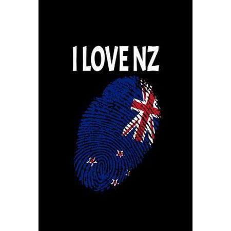 I Love Nz: Support New Zealand Fingerprint Flag Love Paperback (Online-verkauf Nz)