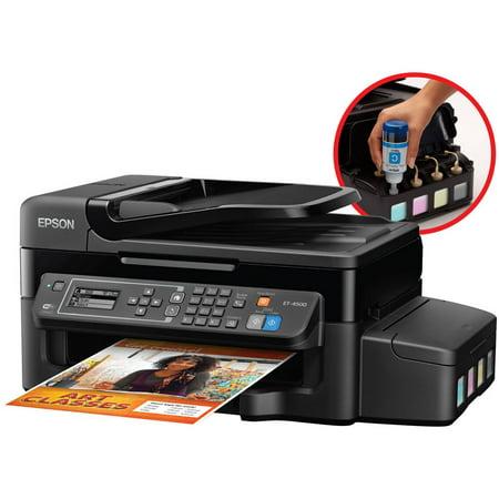 Epson WorkForce ET-4500 EcoTank All-in-One Printer Copier Scanner Fax Machine by