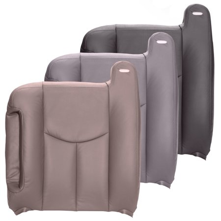 The Seat Shop Silverado Driver Top OEM Fit Leather Seat Cover, Gray ()