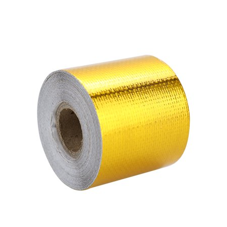 New Brand Reflect Light Fire-retardant Fiberglass Belt Automobile Motorcycle Refit Thermal Insulation Band Exhaust Heat Wrap Roll Durable Wear-Resistant Heat Shield Tape