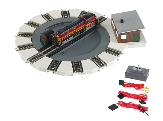 Bachmann Industries Motorized Turntable Train Car, N Scale Multi-Colored by Bachmann Trains