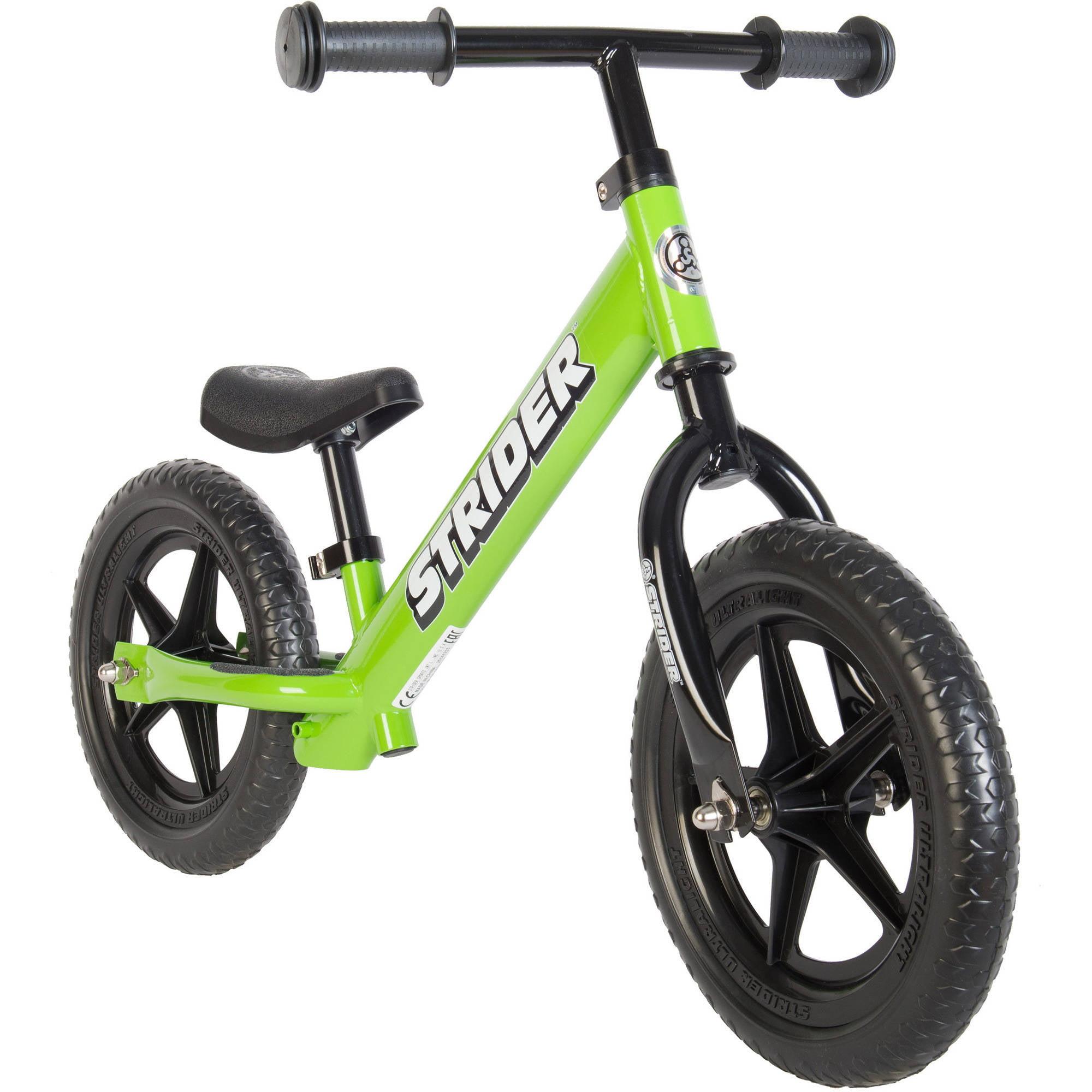 STRIDER 12 Classic Balance Bike, Green