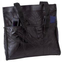 Embassy Italian Stone Design Genuine Leather Shopping/Travel Bag - (Embassy Italian Stone Leather)