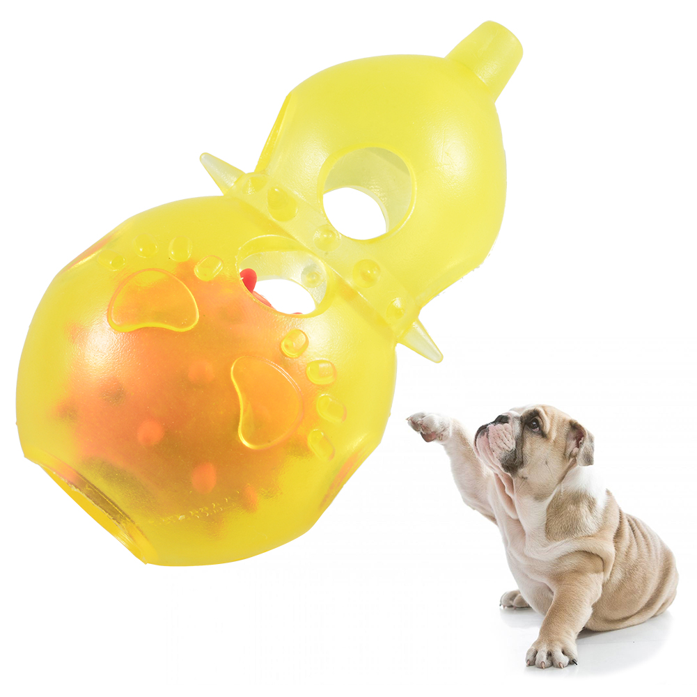 Petacc Pet Sound Ball Puppy Training Biting Toys Dog Chew Toy Pet Teeth Cleaning Toy