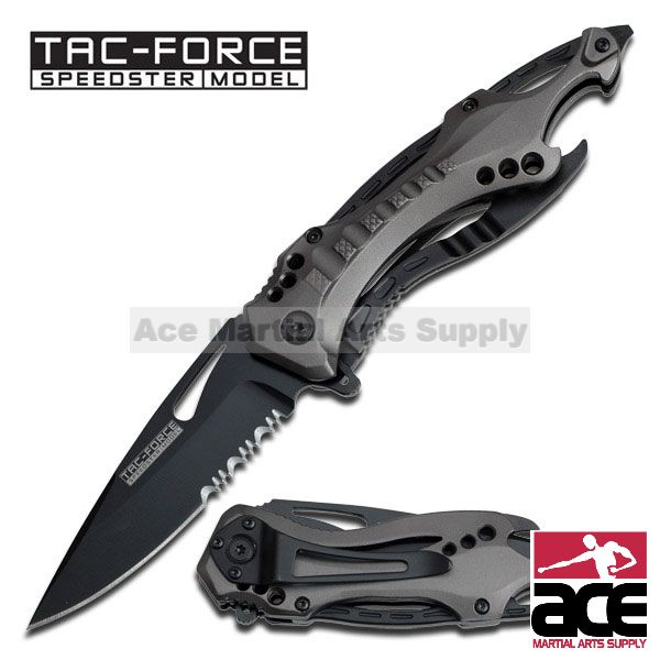 "Tac Force TF-705GY 8"" Grey Gentleman's Spring Assisted Folding Knife"