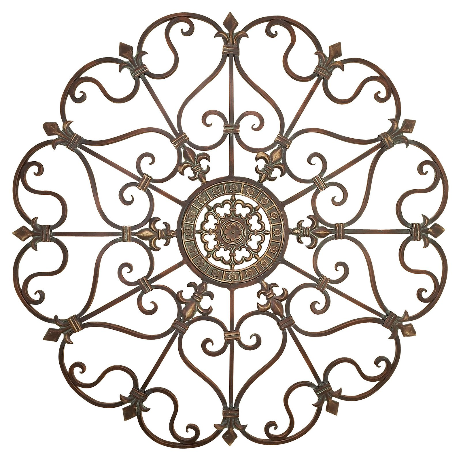 Decmode Metal Wall Decor, Bronze