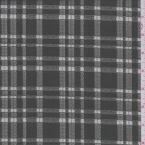 Olive Green Plaid Lace, Fabric By the Yard