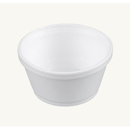 Dart 8SJ20, 8-Ounce Customizable White Foam Cold And Hot Food Container with Clear High Dome Lid, Dessert Ice-Cream Yogurt Cups, Deli Food Containers with Matching Covers (50)