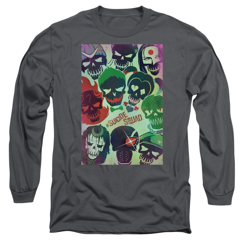 Suicide Squad Poster Mens Long Sleeve Shirt