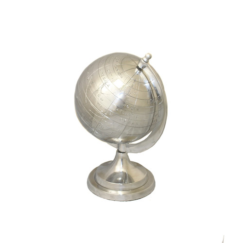 EC World Imports Global Appeal Aluminum Decorative Tabletop Globe by ecWorld
