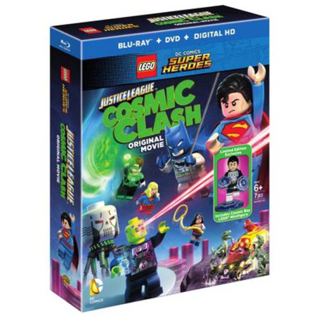 Lego Dc Comics  Super Heroes   Justice League Cosmic Clash The Movie  Blu Ray   Dvd   Digital Hd   Limited Edition Cosmic Ray Lego Minifigure   With Instawatch