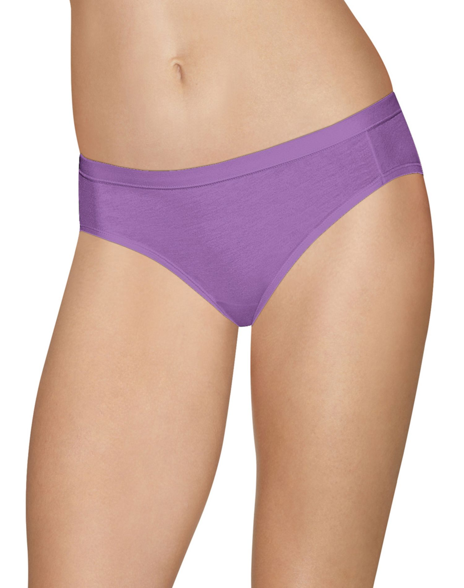 Assorted Colors 4-Pack Hanes Ultimate Women/'s Cotton Stretch Hipster Panties