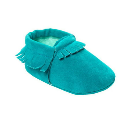 SNHENODA Kids Baby Shoes PU Suede Leather Newborn Boys Girls Soft Shoes Fringe Soft Soled Non-slip Footwear Crib First -