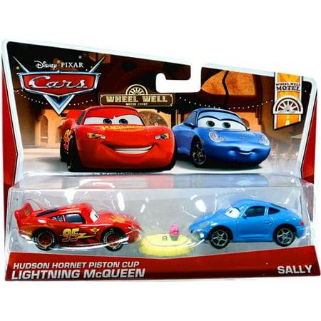 Hudson Hornet Piston Cup Lightning McQueen & Sally Diecast Car - Mcqueen Piston Cup