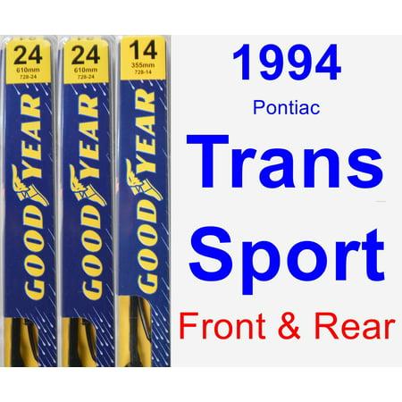 1994 Pontiac Trans Sport Wiper Blade Set/Kit (Front & Rear) (3 Blades) - (1994 Pontiac Trans Sport)