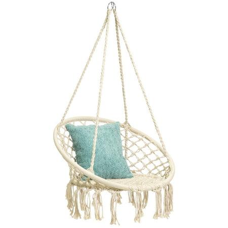 hammock product swing macrame chair cream